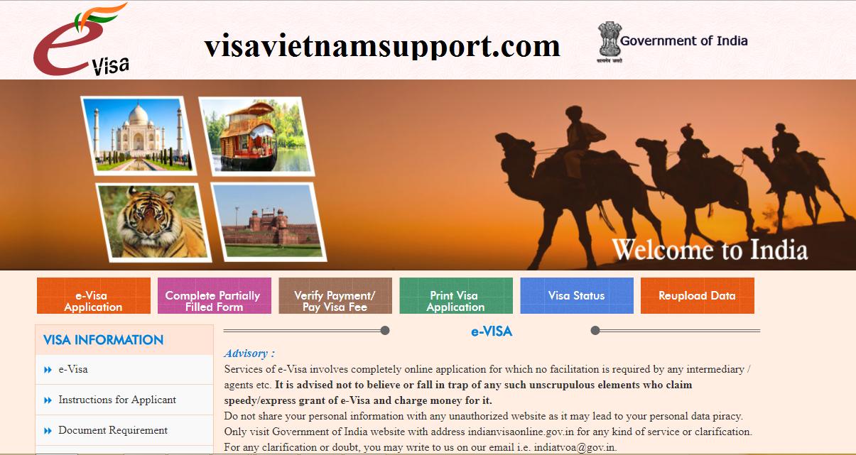 Visa Ấn Độ online