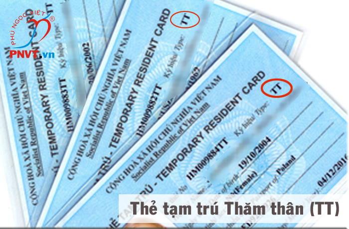 Temporary residence card for visiting relatives for foreign families entering Vietnam