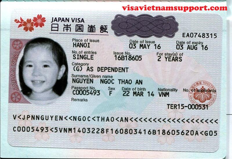 Tấm visa nhật bản đã được công ty Visa Việt tư vấn làm thành công